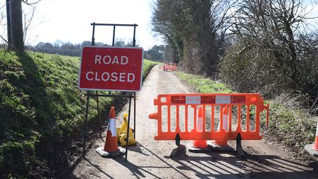 The road will be closed until the council gets government permission to intervene. Picture: GREGG BR
