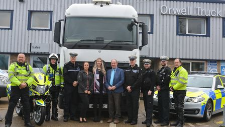 Sgt Julian Ditcham and PCC Tim Passmore, along with officers from the RPFOU & RCRT and representativ