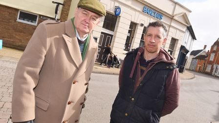 There is anger in Eye at the closure of Barclays Bank, the town's last remaining bank. Left to right