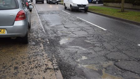 The number of potholes reported in Suffolk has doubled. Picture: GREGG BROWN