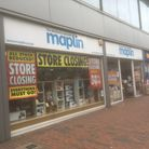 Closing down sale at the Maplin electronics store in Carr Street, Ipswich