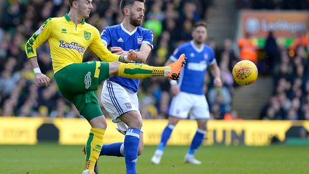Ipswich and Norwich are locked on points heading into the final eight games of the season. Here, Col