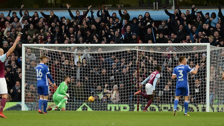 The Blues were beaten 2-0 at Aston Villa back in November. Picture: PAGEPIX