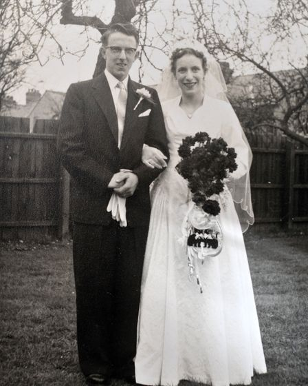 John and Jan Bacon on their wedding day. Picture supplied by family