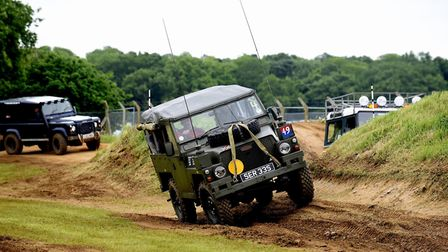 The Suffolk Land Rover Owners Club offer a thrill-seeking ride for visitors to the Suffolk Show. Pic