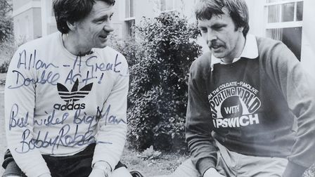 Sir Bobby Robson and Allan Hunter. Like most people, 'Big Al' had a huge amount of respect for the m