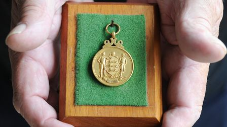 Allan Hunter's FA Cup winners medal from 1978. Picture: SARAH LUCY BROWN