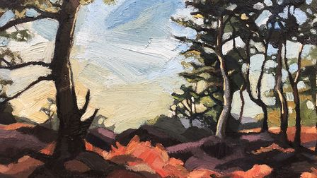 Tunstall Forest by Ania Hobson who is exhibiting at Snape Maltings during the Easter Weekend. Photo: