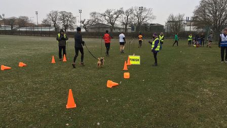 Runners in the finishing funnel at last Saturday's Colney Lane parkrun. Picture: CARL MARSTON