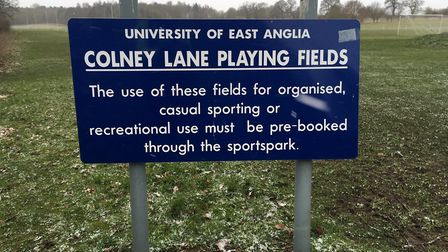 Colney Lane Playing Fields, the home of the weekly Colney Lane parkrun, which was established as rec