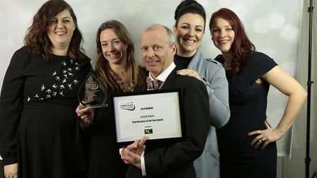 The team from Suffolk Babies, winners of New Business of the Year, after opening their own centre an