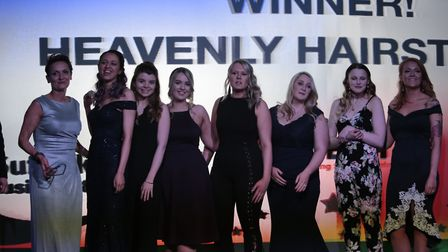 Heavenly Hairstyling took the Business Growth Award for its success over the past year. Picture: DE