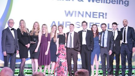 The Health and Wellbeing award winners - AHP Suffolk. Picture: DE PHOTO