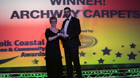 Archway Carpets won the Customer Focus Award at the Suffolk Coastal Business and Community Awards. P