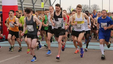 4,000 runners will take part in the 2018 Colchester Half Marathon. Pictured is the start of last yea
