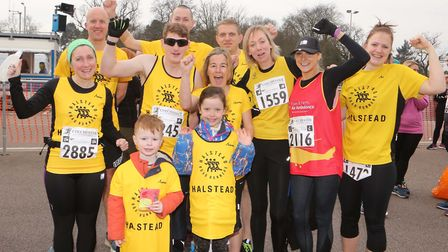 Halstead Running Club athletes pictured at the start of the 2017 Colchester Half Marathon. Picture: