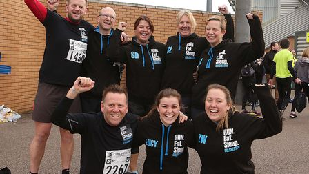 The Run Eat Sleep Colchester team pictured on Colchester Half Marathon race day in 2017. Picture: S