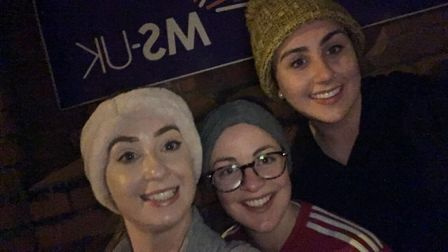 Tess Ryan, Claire Flaherty and Lauren O'�Shea will be running the Colchester Half Marathon to raise
