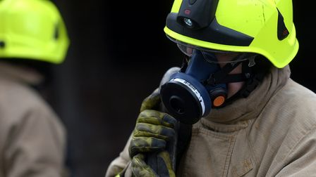 Firefighters wore breathing apparatus to tackle the blaze (file image). Picture: SARAH LUCY BROWN