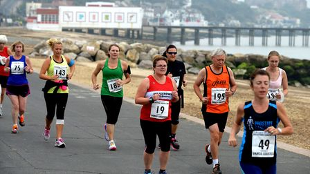 Runners taking part in the Coastal 10 back in 2014. Picture: ANDY ABBOTT