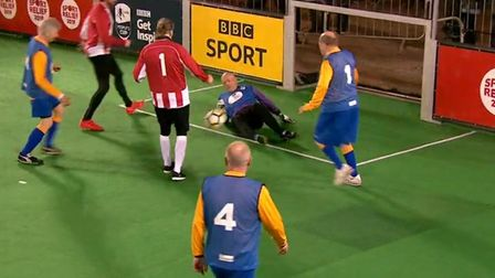 Colchester Phoenix Walking Football Club appeared live on television as part of the BBC's Sport Reli