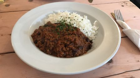 Chilli con carne at The Greyhound, Ipswich. Picture: Archant