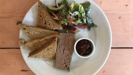 Chicken liver pate at The Greyhound, Ipswich. Picture: Archant