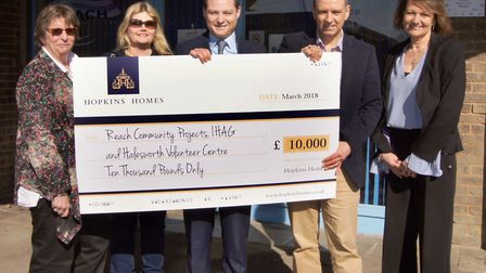 Charity of the Year - Joshua Hopkins presents a £10,000 donation to the winners of the Hopkins Home