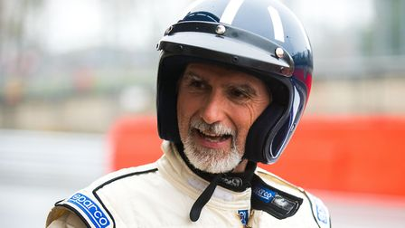 Damon Hill tested the modified Team BRIT Aston Martin at Brands Hatch. Picture: DAVID ARCHER PHOTOGR