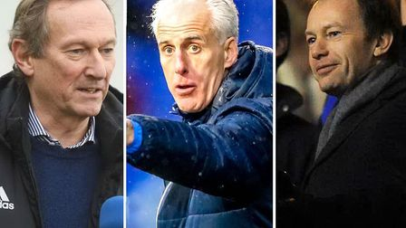 Ian Milne, Mick McCarthy and Marcus Evans. Picture: ARCHANT