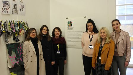 The three finalists for the Nicole Abbott award 2018, University Centre Colchester students Darcie O