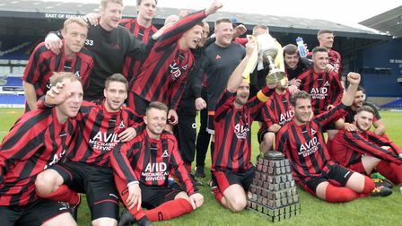 Achilles are the Suffolk Senior Cup champions. Picture: NIGEL BROWN