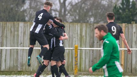 Woodbridge Town are the runaway leaders of the Thurlow Nunn First Division. Picture: PAUL LEECH