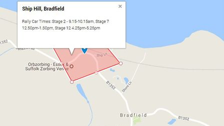 Ship Hill in Bradfield, which is the main spectator location for the rally. Picture: GOOGLE MAPS