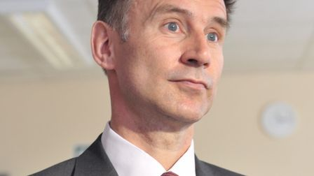Jeremy Hunt, secretary of state for health. Picture: SARAH LUCY BROWN