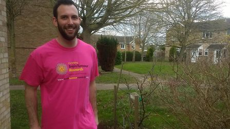 Sam Stonehouse, who is running the London Marathon for Brain Tumour Research. Picture: SUPPLIED BY F