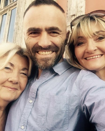 Adrian's 'selfie' with mum and sister Simonetta. Picture: SUPPLIED BY FAMILY