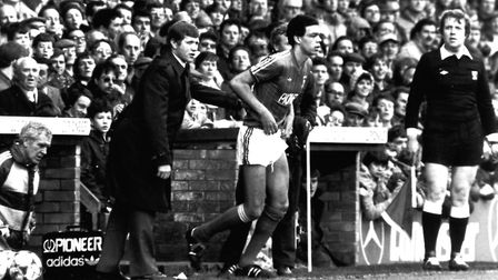 Bobby Ferguson famously gave Jason Dozzell his Town debut as a teenager in 1983. Picture: ARCHANT