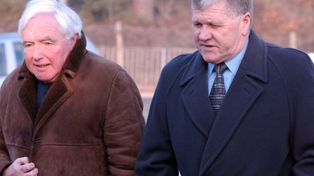 Former EADT sports editor Tony Garnett and Bobby Ferguson, right, pictured at the Dale Roberts memor