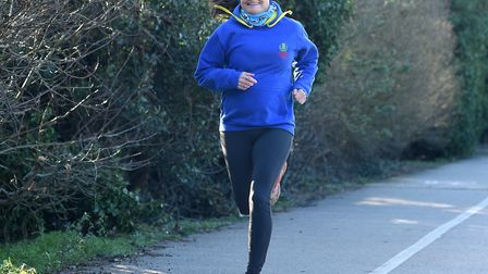 Ms Harley completed the 'Week at the Knees' challenge to raise money for The Lily Foundation. Pictur