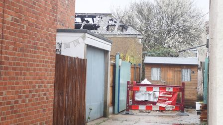 Clacton-on-Sea warehouse fire near Key Road. Picture: GREGG BROWN