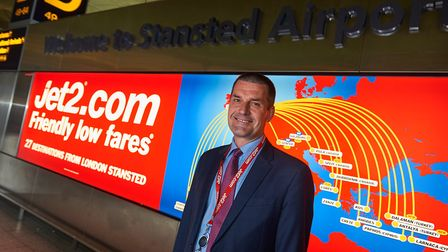 Steve Heapy, chief executive of Jet2.com and Jet2holidays, at the launch of flights from London Stan