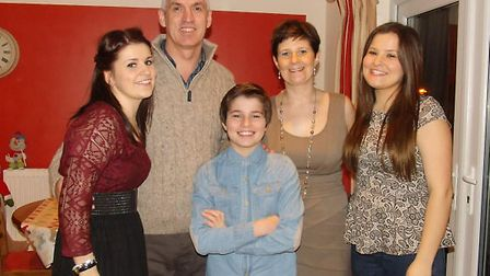 Arran Tosh with his family. Picture: SUPPLIED BY FAMILY