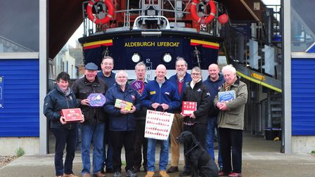 The Team at Aldeburgh RNLI. Picture: SARAH LUCY BROWN