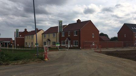 Persimmon Homes Mount Pleasant development in Framlingham has faced criticism. Picture: ANDREW HIRS