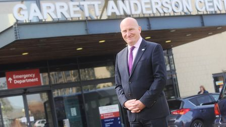 Nick Hulme, chief executive of Ipswich and Colchester hospitals, outside the Garrett Anderson Centre