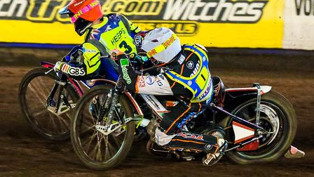 Scott Nicholls inside Cameron Heeps - the pair will be crucial to their respective sides this season