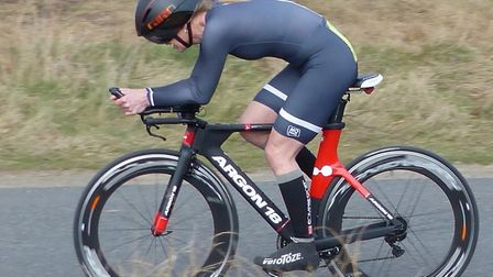 Mandy Bunn (CC Sudbury) missed out on the win at Plomesgate by just three seconds. Picture: FERGUS M