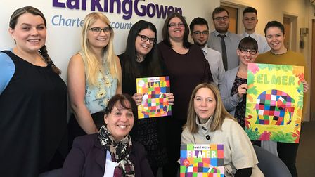 Staff from chartered accountants Larking Gowen are taking part in the Midnight Walk, for St Elizabet