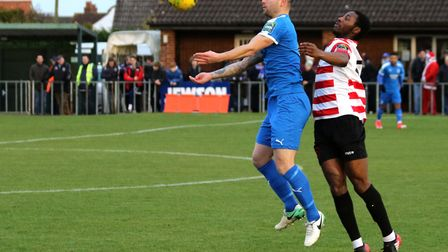 Jack Ainsley was on the scoresheet for Leiston in midweek. Picture: JOHN HEALD
